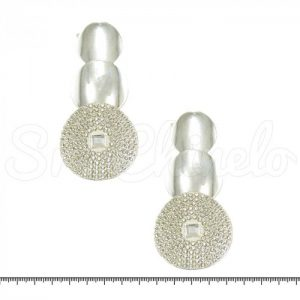 Cabedal Lateral Circulos Strass Par